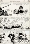 Original Comic Art:Panel Pages, Russ Heath Our Fighting Forces #28 Story Page 5 Original Art (DC, 1957)....