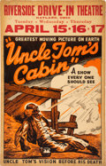 Miscellaneous:Broadside, Riverside Drive-In Uncle Tom's Cabin Poster....
