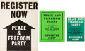 Miscellaneous:Broadside, Three 1968 Registration Posters. ...