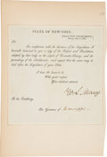 Autographs:Statesmen, William L. Marcy Document Signed....