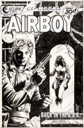 Original Comic Art:Covers, Timothy Truman and Tex Blaisdell Airboy