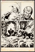 Original Comic Art:Panel Pages, John Buscema Tarzan #1 Story Page 14 Original Art (Marvel,1977)....