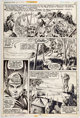 Gil Kane and Tom Sutton Giant-Size Conan #1 Story Page 15 Original Art and Page 16 Production Stat (Marvel, 1974).... (T...