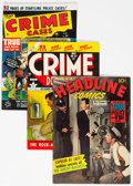 Golden Age (1938-1955):Crime, Golden Age Crime Comics Group of 7 (Various Publishers, 1948-54) Condition: Average VG.... (Total: 7 Comic Books)