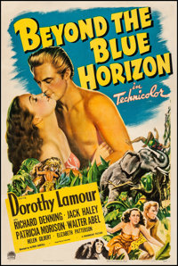 "Beyond the Blue Horizon (Paramount, 1942) Fine+ on Linen. One Sheet (27"" X 41""). Adventure"
