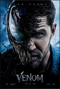 """Venom (Columbia, 2018) Rolled, Very Fine+. One Sheet (27"""" X 40"""") DS Advance. Horror"""