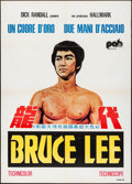 "Movie Posters:Action, The Real Bruce Lee (PAB, 1979). Folded, Very Fine-. Italian 2 -Fogli (39.25"" X 55""). Action.. ..."