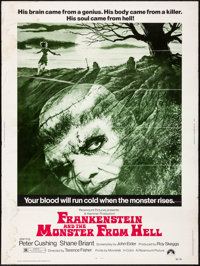 "Frankenstein and the Monster from Hell (Paramount, 1974) Rolled, Fine+. Poster (30"" X 40""). Horror"