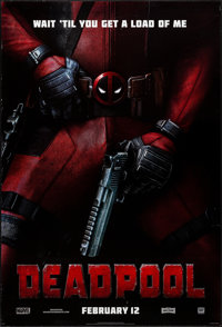 """Deadpool (20th Century Fox, 2016) Rolled, Very Fine-. One Sheet (27"""" X 40"""") DS Advance, Style B. Action"""