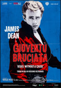 "Movie Posters:Drama, Rebel Without a Cause (Warner Brothers, R-2014). Folded, Very Fine-. Italian 2 - Fogli (38.25"" X 55""). Drama.. ..."