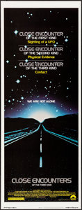 """Movie Posters:Science Fiction, Close Encounters of the Third Kind (Columbia, 1977) Rolled, Very Fine/Near Mint. Insert (14"""" X 36""""). Science Fiction.. ..."""