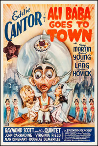 "Ali Baba Goes to Town (20th Century Fox, 1937) Fine/Very Fine on Linen. One Sheet (27.25"" X 41""). Comedy. From..."