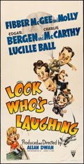 "Movie Posters:Comedy, Look Who's Laughing (RKO, 1941) Fine/Very Fine on Linen. Three Sheet (41"" X 80.5"") Sam Berman Artwork. Comedy. From the Co..."