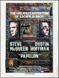 "Movie Posters:Drama, Papillon (Allied Artists, R-1977) Rolled, Very Fine. Poster (30"" X 40""). Drama.. ..."