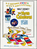 "Movie Posters:Animation, The Three Caballeros (Buena Vista, R-1977) Rolled, Very Fine+. Poster (30"" X 40""). Animation.. ..."