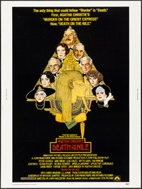 """Death on the Nile (Paramount, 1978) Rolled, Very Fine. Poster (30"""" X 40""""). Richard Amsel Artwork. Mystery"""