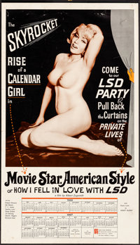 Movie Star, American Style or; LSD, I Hate You (Famous Players Corp., 1966). Rolled, Fine/Very Fine. Pinup Calendar (16&...