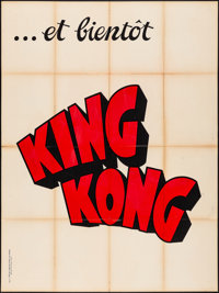 "King Kong (RKO, 1933). Folded, Fine/Very Fine. Silk Screen French Grande (47"" X 63"") Style B & Mexican Lob..."