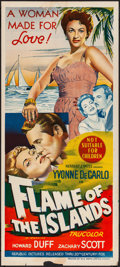 """Movie Posters:Drama, Flame of the Islands & Other Lot (Republic, 1956). Folded, VeryFine-. Australian Daybills (2) (13"""" X 30""""). Drama.... (Total: 2Items)"""