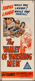 Movie Posters:Serial, The Valley of Vanishing Men & Others Lot (Columbia, 1942). Folded, Overall: Very Fine-. Stock Australian Daybill & Australia... (Total: 3 Items)