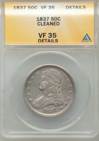 1837 50C -- Cleaned -- NGC Details. VF35 Details. NGC Census: (36/1369). PCGS Population: (119/1730). CDN: $120 Whsle. B...
