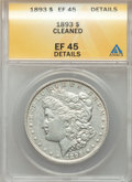 Morgan Dollars: , 1893 $1 -- Cleaned -- ANACS. XF45 Details. NGC Census: (496/3622). PCGS Population: (866/5865). CDN: $220 Whsle. Bid for pr...