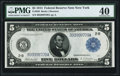 Fr. 850 $5 1914 Federal Reserve Note PMG Extremely Fine 40