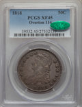 Bust Half Dollars, 1818 50C O-114, R.3, XF45 PCGS. CAC. PCGS Population: (4/1). NGC Census: (0/1). XF45. Mintage 1,960,322. From The S. R. C...