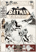 Original Comic Art:Covers, Ernie Chan (as Ernie Chua) Batman Family #7 Cover Batgirland Robin Original Art (DC, 1976)....