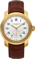 Timepieces:Wristwatch, Baume & Mercier, Capeland Automatic, 18K Yellow Gold, Ref.65486, Circa 2004. ...