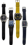 Timepieces:Wristwatch, Two Locman Chronographs, One Ritmo Mundo, One Shinola Ford Mustang 50th Anniversary, No. 18/1000, Quartz, Circa 2010s . ... (Total: 4 Items)