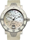 Timepieces:Wristwatch, Ulysse Nardin, Marine Lady Diver, Stainless Steel and Diamond,Automatic, Ref. 8103-101E, Circa 2012. ...