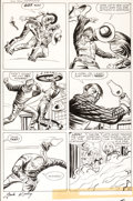 Original Comic Art:Panel Pages, Jack Kirby and Dick Ayers Two Gun Kid #59 Story Page 5 Original Art (Marvel, 1961)....