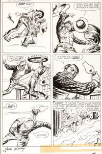 Jack Kirby and Dick Ayers Two Gun Kid #59 Story Page 5 Original Art (Marvel, 1961)