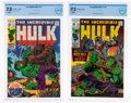 Silver Age (1956-1969):Superhero, The Incredible Hulk #119 and 121 CBCS-Graded Group (Marvel, 1969) VF- 7.5 White pages.... (Total: 2 Comic Books)