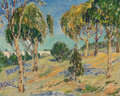 Fine Art - Painting, American, Anni Von Westrum Baldaugh (American, 1881-1953). View of ArroyoSeco Bridge, Pasadena. Oil on canvas. 24 x 30 inches (61...
