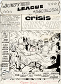 Original Comic Art:Splash Pages, Mike Sekowsky and Bernard Sachs Justice League of America#21 Splash Page 1 Justice Society of America Original Ar...