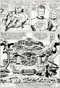 Original Comic Art:Panel Pages, Jack Kirby and Joe Sinnott Fantastic Four