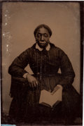 Photography:Tintypes, Tintype of an African-American Woman. ...