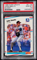 Baseball Cards:Singles (1970-Now), 1988 Fleer Update Glossy John Smoltz #U-74 PSA Gem Mint 10....