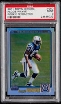 Football Cards:Singles (1970-Now), 2001 Topps Chrome Reggie Wayne (Rookie Refractor) #250 PSA Mint 9....