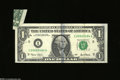 Error Notes:Attached Tabs, Fr. 1926-I $1 2001 Federal Reserve Note. Very Fine....