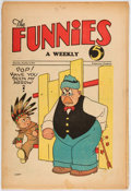 Platinum Age (1897-1937):Miscellaneous, The Funnies #34 (Dell, 1930) Condition: VG-....