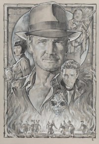 Steven Chorney (American, b. 1951) Indiana Jones and the Kingdom of the Crystal Skull, poster study, 20