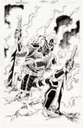 Original Comic Art:Covers, John Romita Jr. and Scott Hanna Deathstroke #17 VariantCover Original Art (DC, 2016)....