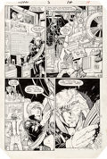 Original Comic Art:Panel Pages, Arthur Adams, Whilce Portacio, and Scott Williams Longshot#3 Story Page 10 Original Art (Marvel, 1985)....