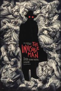 """The Invisible Man by Jonathan Burton (Mondo, 2018). Rolled, Near Mint. Numbered Limited Edition Screen Print (24"""" X..."""