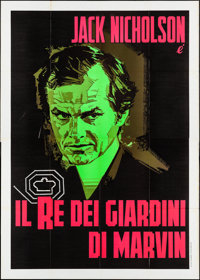 "The King of Marvin Gardens (1976). Folded, Fine/Very Fine. Italian 4 - Fogli (55.25"" X 77.25""). Crime"