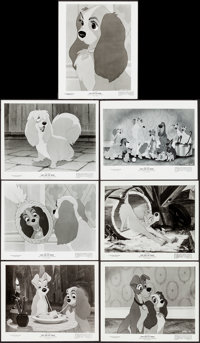 """Lady and the Tramp (Buena Vista, 1955). Very Fine-. Photos (21) (8"""" X 10""""). Animation. ... (Total: 21 Items)"""