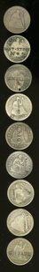 Counterstamps: , U.S. Seated Liberty Quarter Counterstamped Group Lot. Nine different quarters, listed by name (with or without location), an... (Total: 9 tokens)